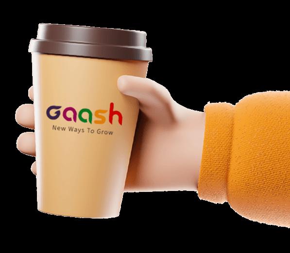 כוס קפה ממותג געש